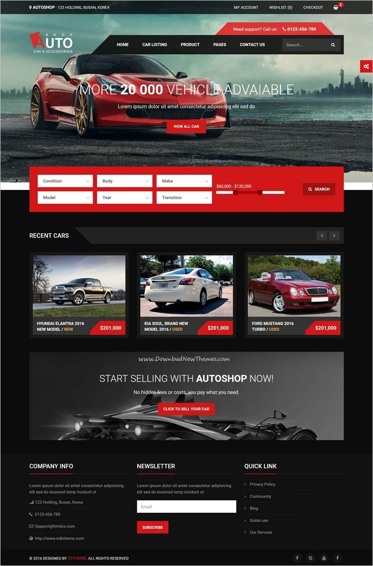 Autoshop is a wonderful responsive html bootstrap template for car shop car