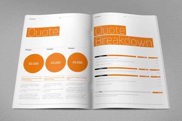Agency Proposal Template By Rw Ds Via Behance  Design Inspiration