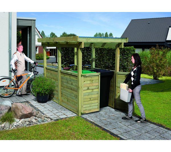 Abri pour vélos et poubelles 1 en bois - 5,26 m²