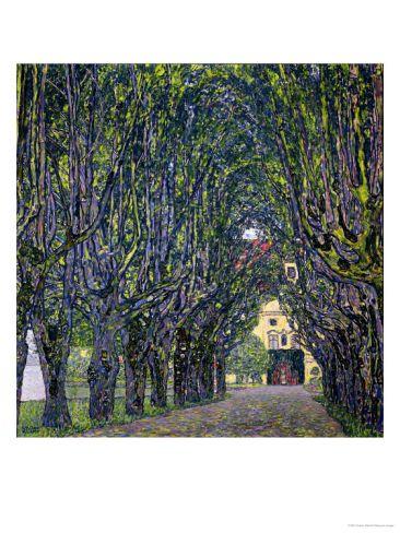 """Gustav Klimt """"Tree lined"""""""