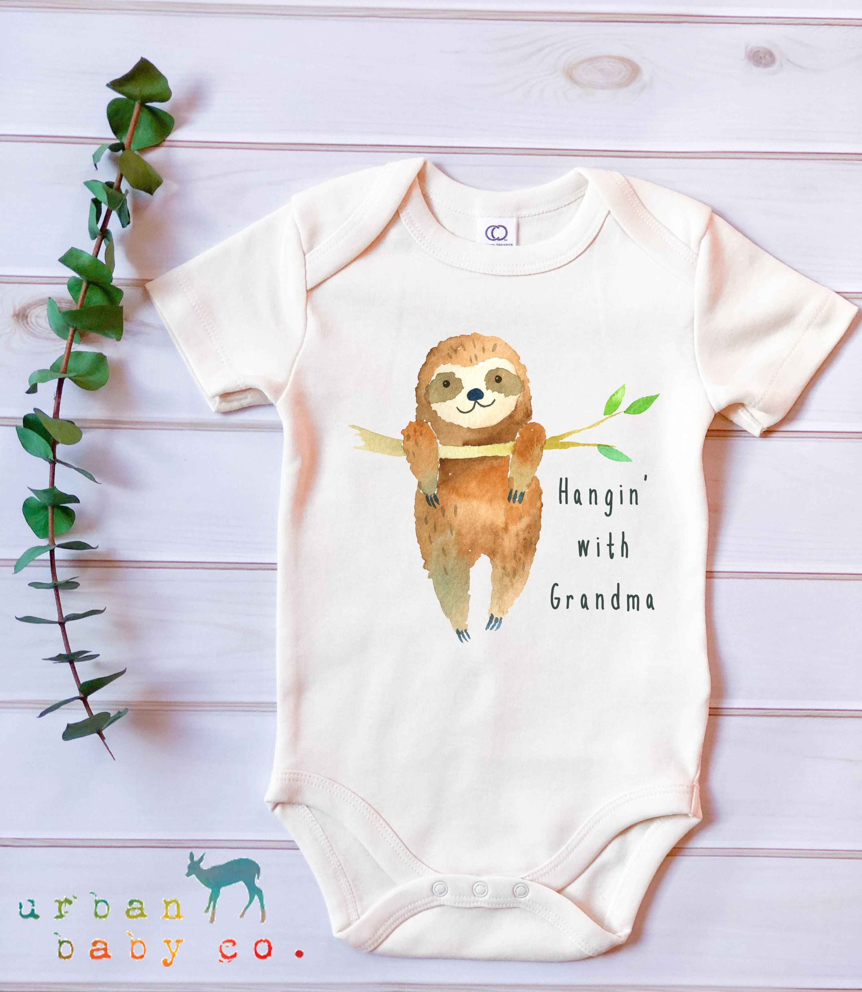Baby Bodysuit Baby Clothes,Baby Sloth,Cute Baby Outfit Baby Christmas Gift
