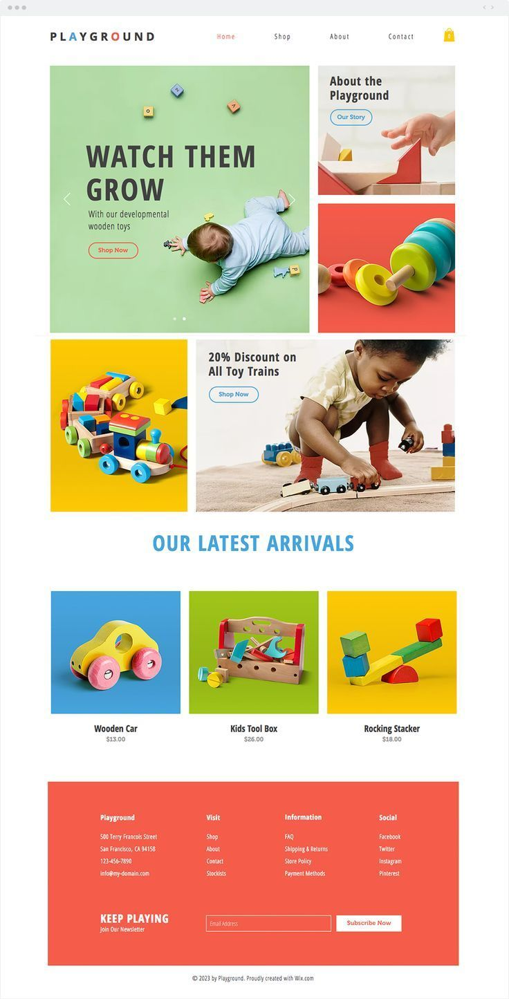 Toy Store Website Template Wix Blog Blogging with Wix is
