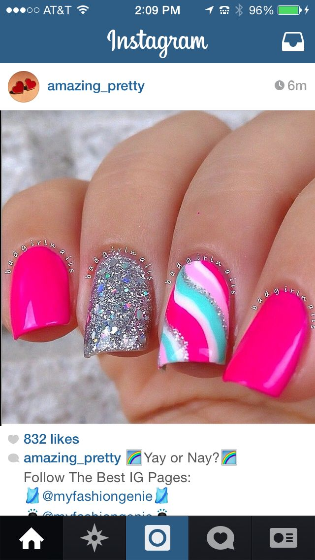 Pin By Michelle Lancaster On Nails Pinterest Nail Nail Glitter