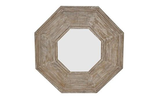 Reclaimed Lumber octagonal mirror