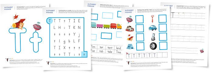Letter T Worksheets T The Letter Of The Day Pinterest
