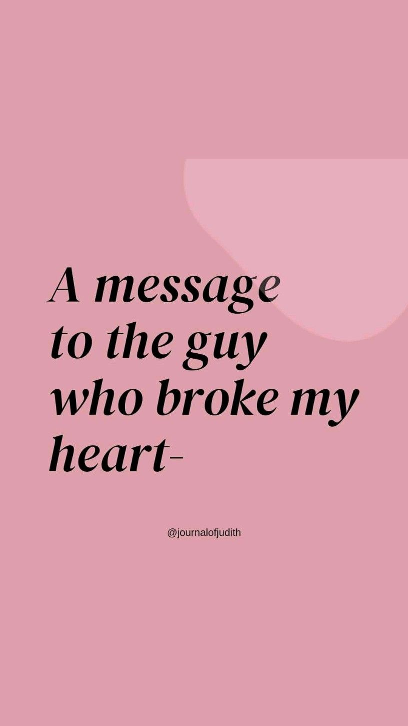 A message to my ex