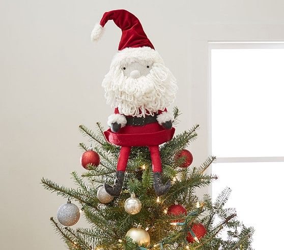 Santa Tree Topper Holiday Pinterest Tree toppers, Christmas