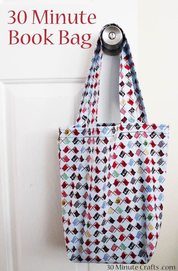 30 Minute Book Bag... I want to make these as library bags for the ...