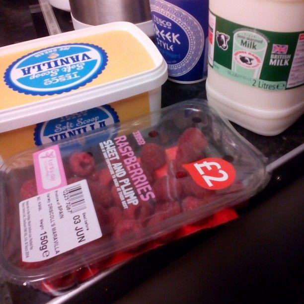 My treat milkshake ingredients the greek style yoghurt is not in it just it happened to be in my shopping list