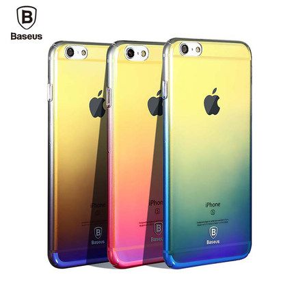 Baseus Originality For IPhone 7 Case Luxury Aurora Gradient Color Transparent 6s
