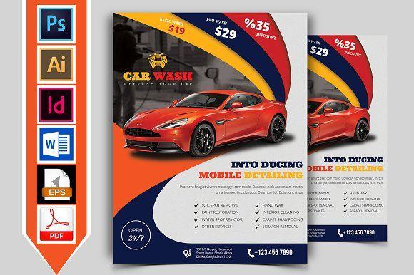 Car Wash Flyer Template Vol 02 By Imagine Design Studio On