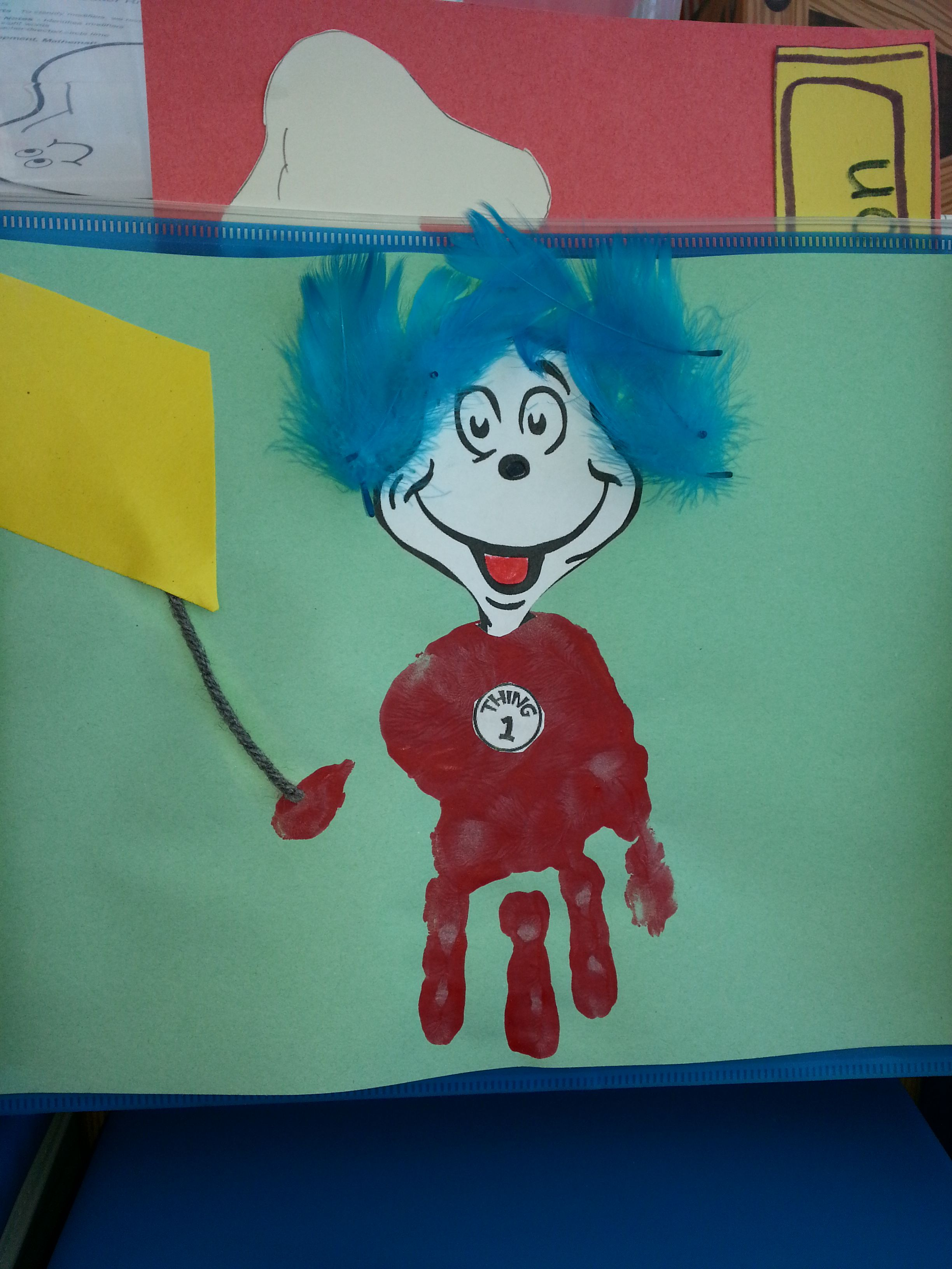 Thing 1 Cubby Tag Ides For Teachers Looking For A March Or Dr Seuss Theme I Used My Students