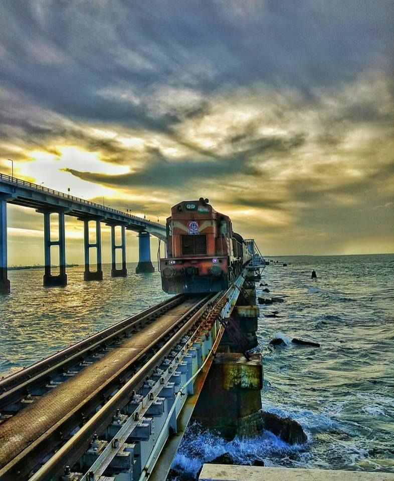 Pamban Bridge, Rameswaram | India in 2019 | Pamban bridge, Train