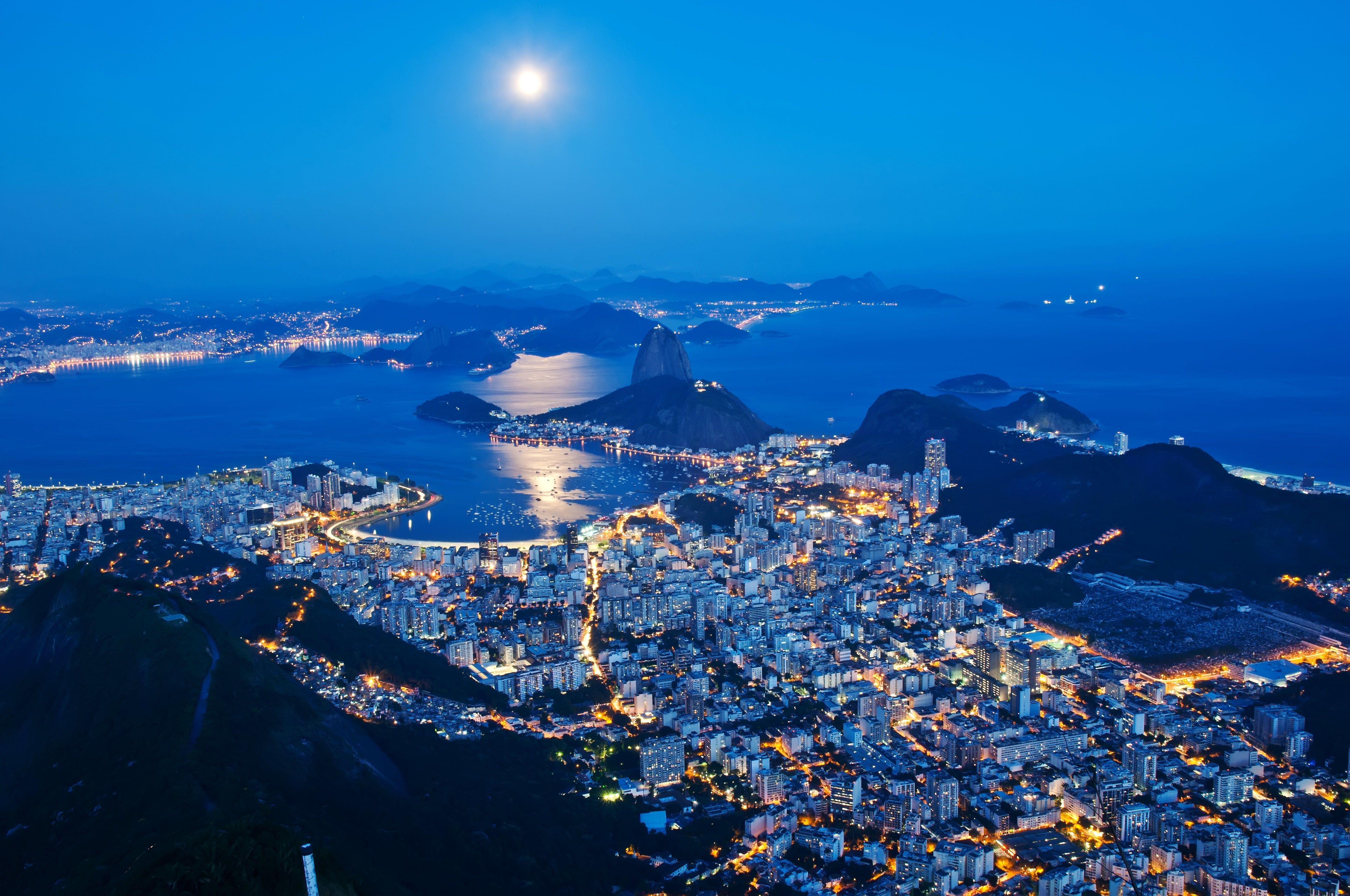 Cityscape At Night Wallpaper Rio De Janeiro Night City 4k Wallpaper Hdwallpaper Desktop Fotos Do Rio Rio De Janeiro Rio