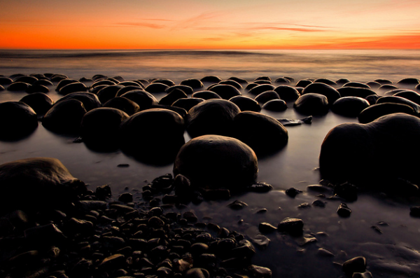 Bowling Ball Beach in California  These spherical formations  are estimated to date back 100 million years.
