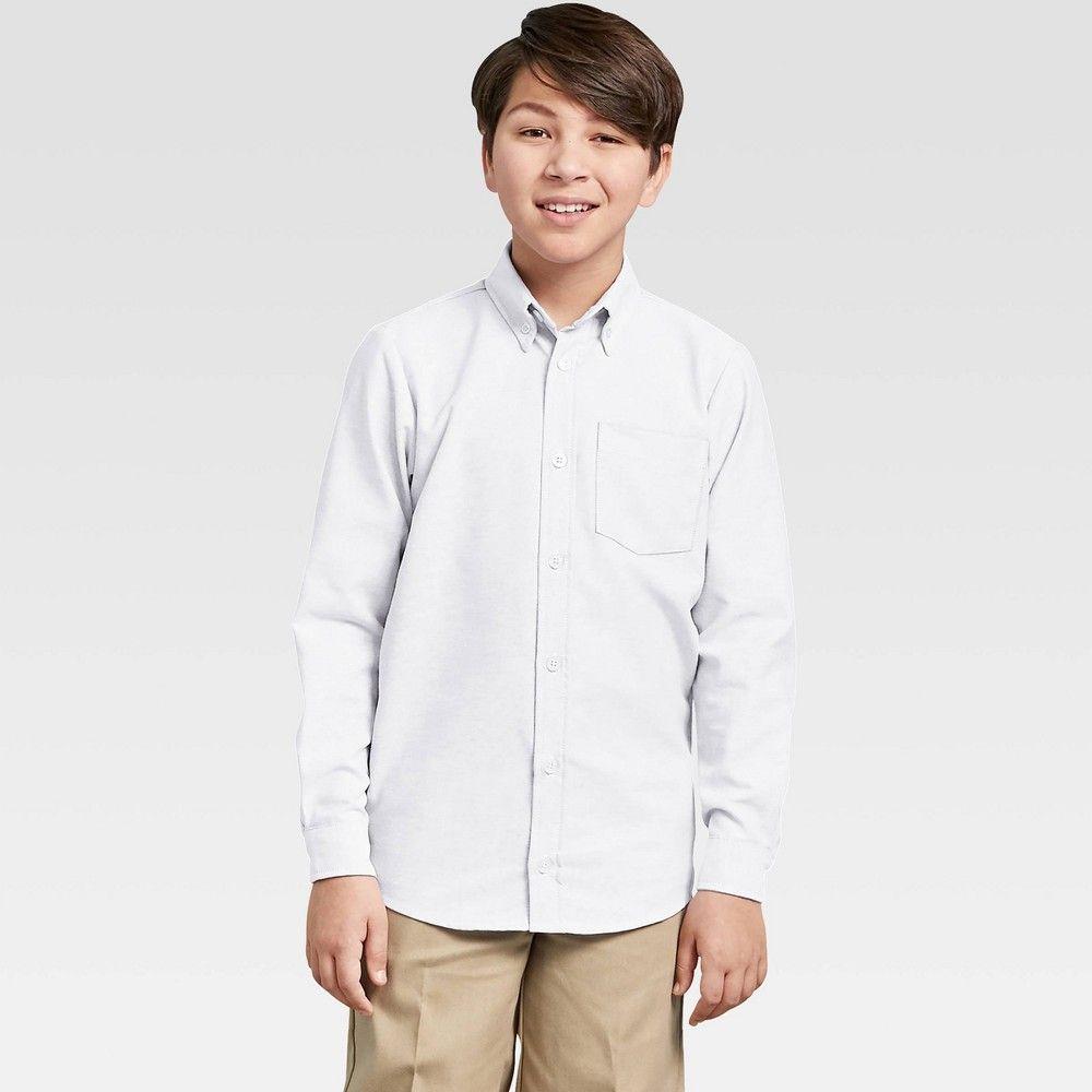 Dickies Boys Long Sleeve Oxford Uniform Button Down Shirt White Xs In 2021 Boys Long Sleeve Button Down Shirt Shirts White [ 1000 x 1000 Pixel ]