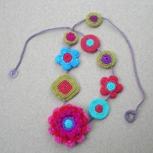 Sybella Crochet Motifs Necklace by gitte on Etsy review | buy, shop with friends, sale | Kaboodle