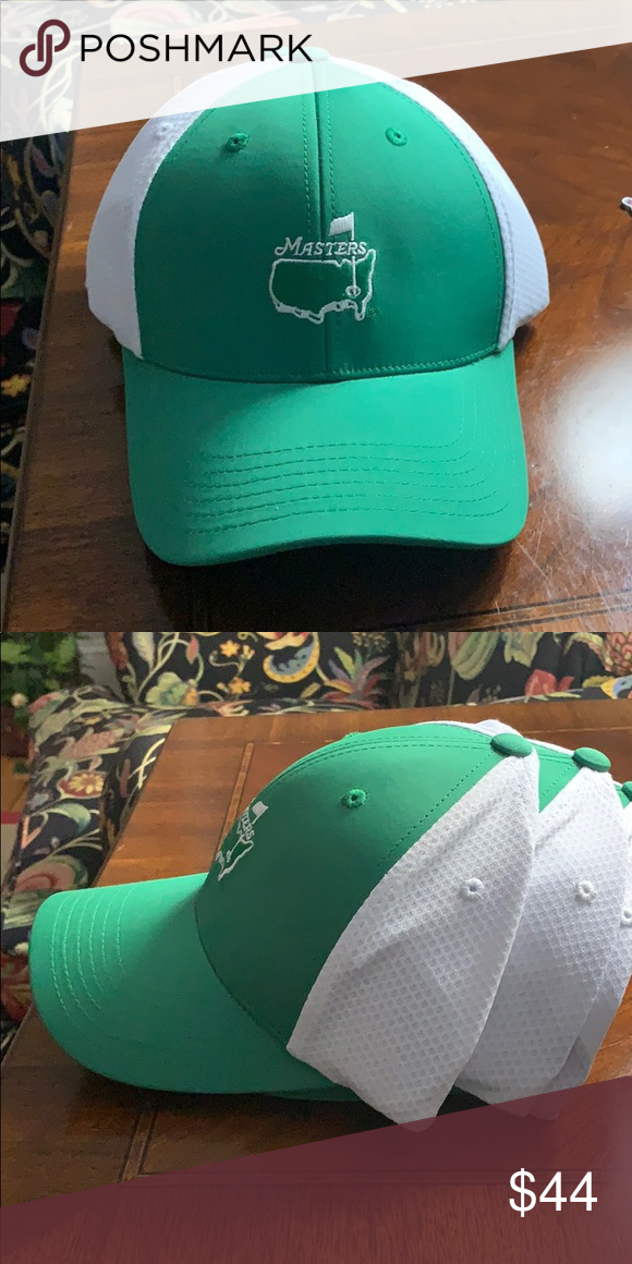Masters Iconic Green Performance Golf Hat Augusta Golf Hats Golf Hats