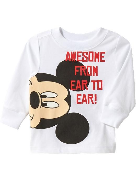 """Disney&#169 Mickey Mouse """"Awesome From Ear to Ear!"""" Tees for Baby Product Image"""