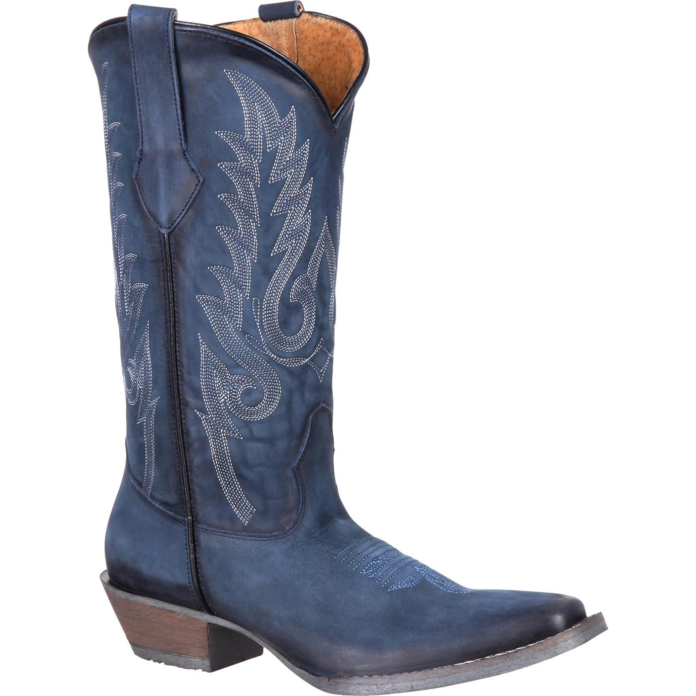 Navy Western Boot | Blue cowboy boots