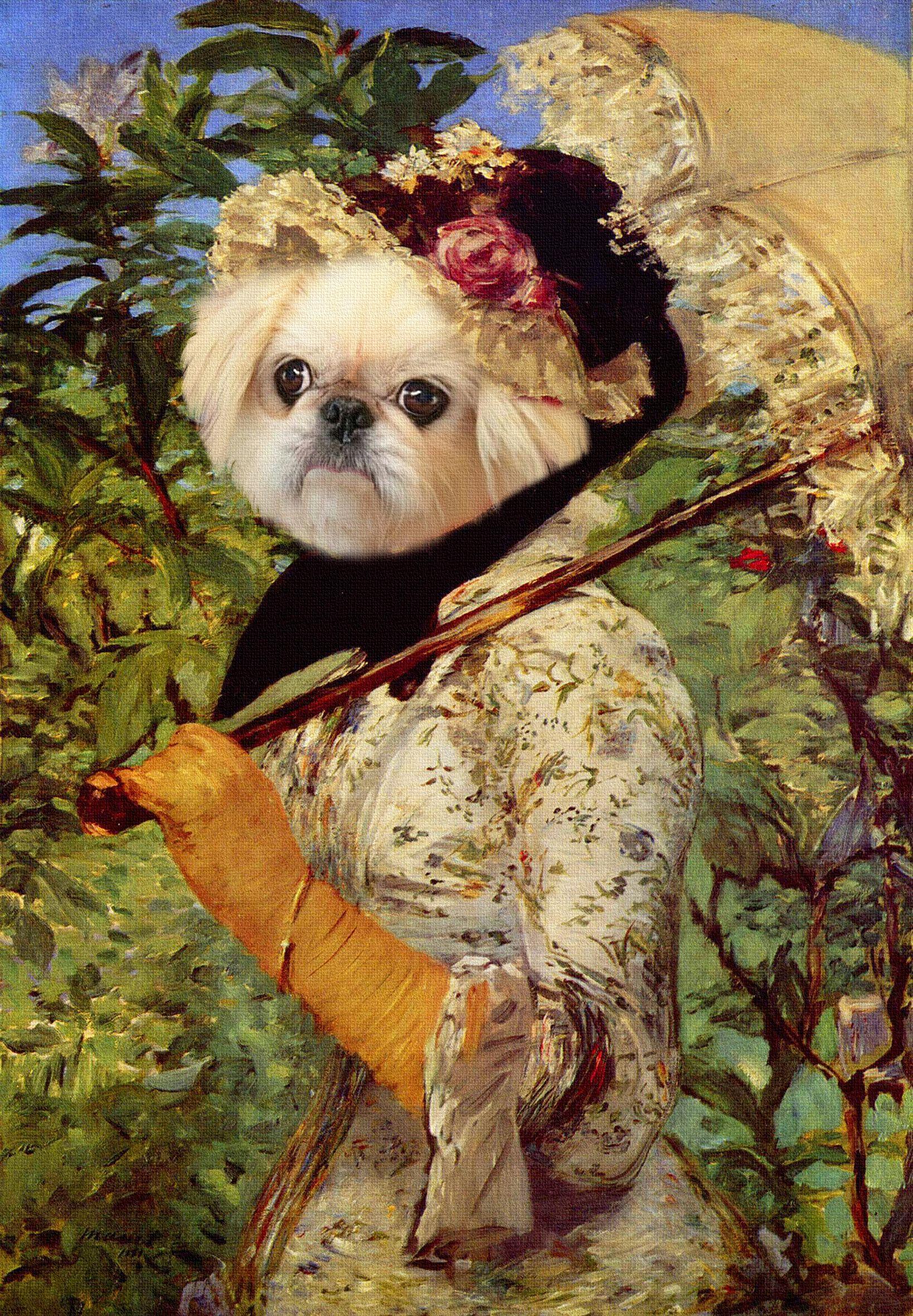 Your puppy by Degas,Custom Pet portrait,Custom pet