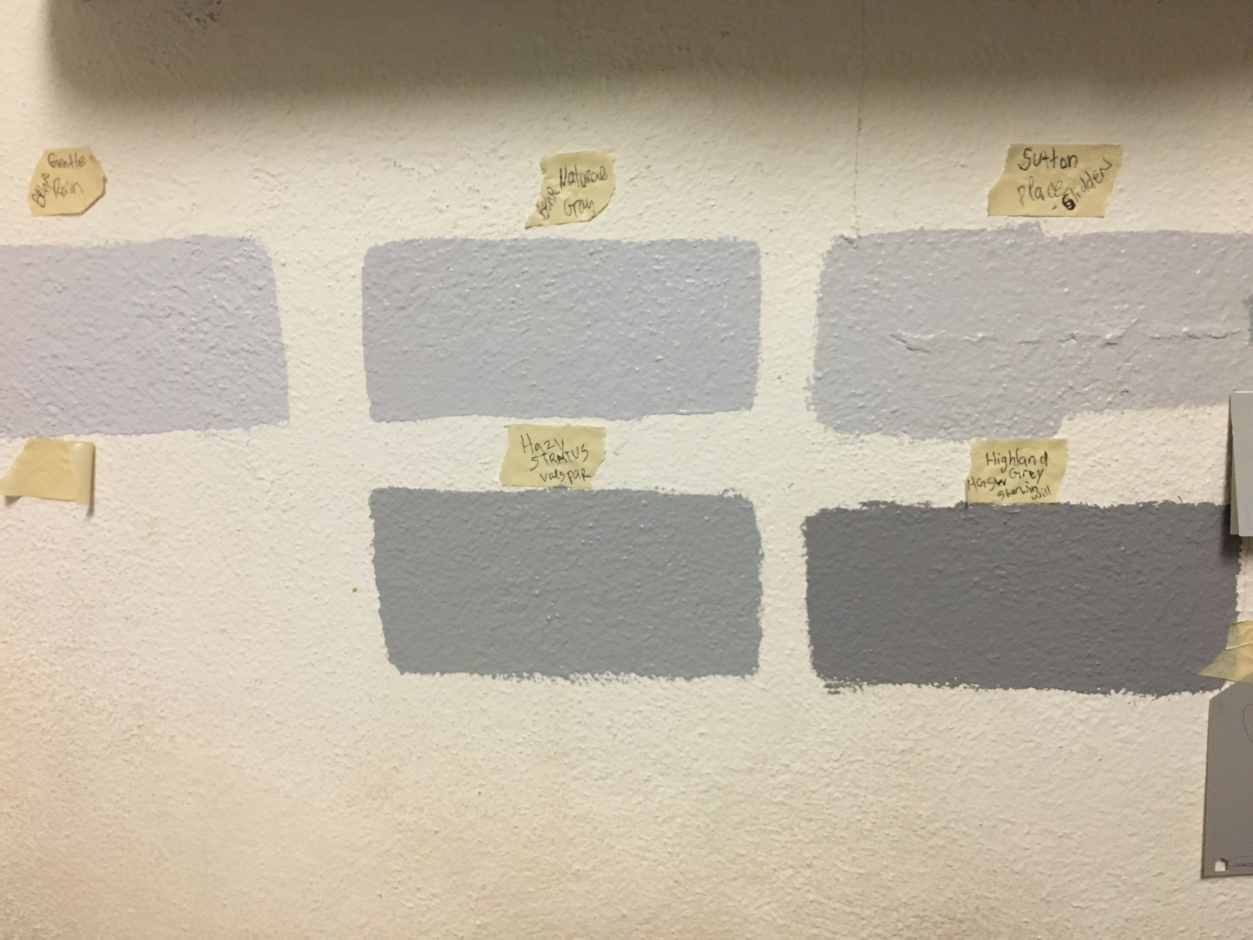compare gray and grey paints on a bedroom wall color on behr paint comparison chart id=92254
