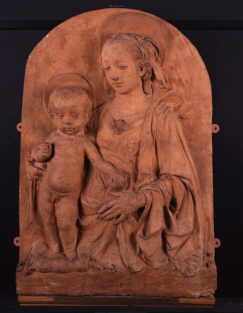 Madonna and Child, Andrea del Verrocchio, 1460-70 by Birmingham Museum and Art Gallery on Flickr. Madonna and Child, Andrea del Verrocchio, 1460-70 'This terracotta sculpture made by Verrocchio most probably dates from the 15th Century where he was working at the height of Renaissance Italy. Given patronage by Piero and Lorenzo de'Medici, his workshop in Florence saw him train as an apprentice none other than Leonardo da Vinci, as well as other major artists, whose early work was almost…