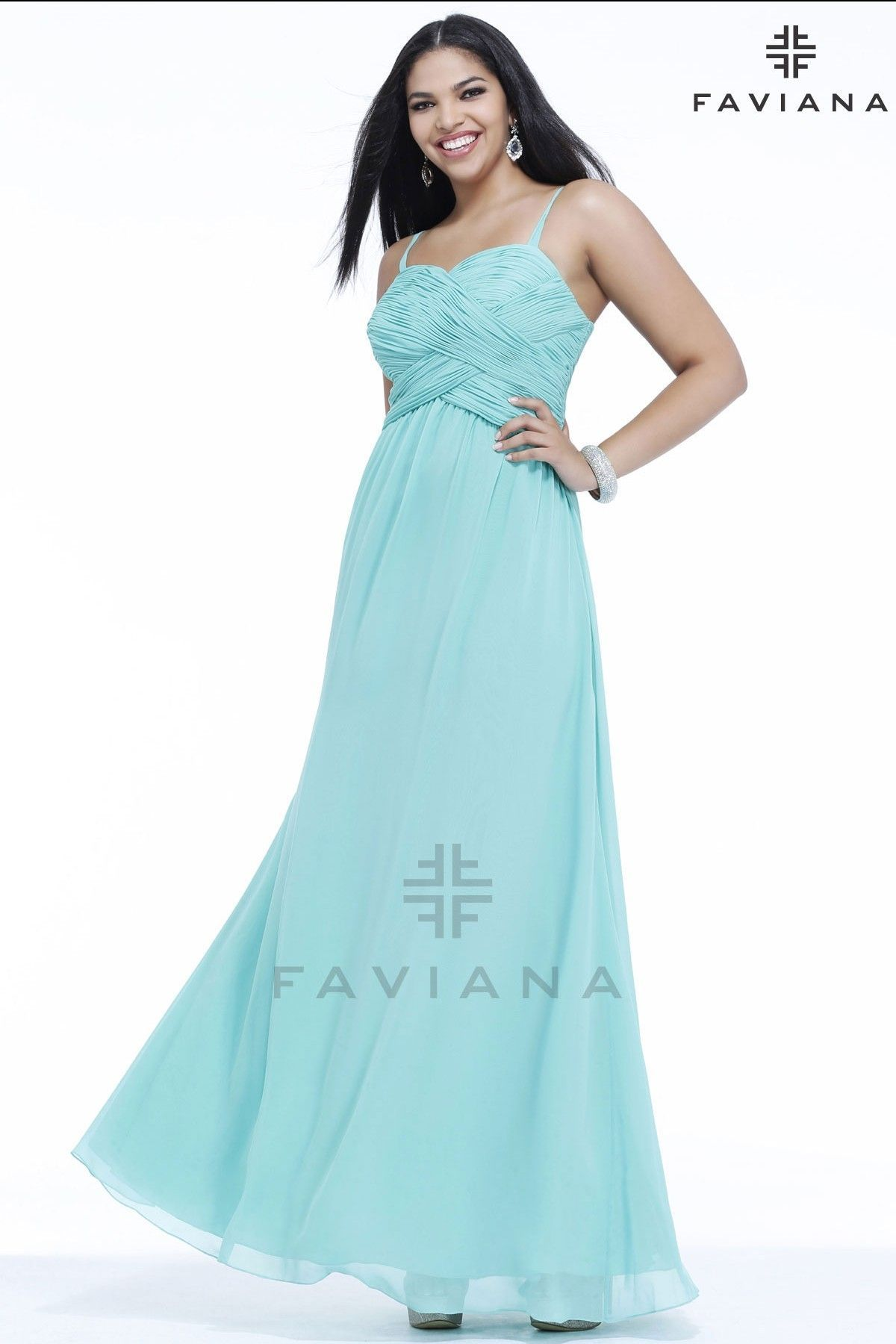 Plus Size Prom Dress with Sweetheart Neckline l Faviana - Wedding ...