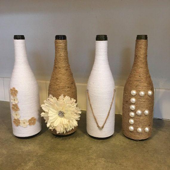 Bottle Decorations Wine Bottle Decor Rustic Home Decor Farmhouse Von Dezignedtodazzle