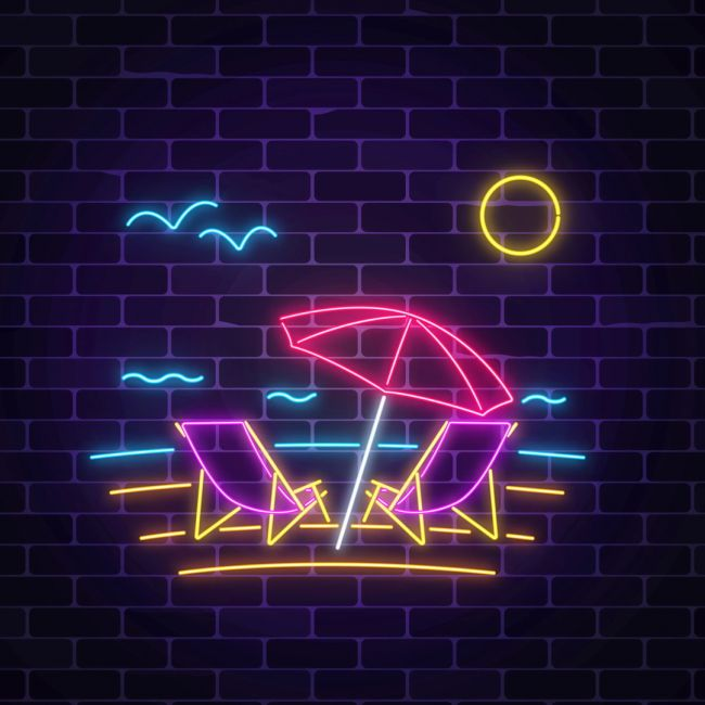 Summer Is Here Beach Led Neon Sign Custom Options Color Size Dimmable Electrical Battery Powered Wall Mounted Desktop Type Hanging In A Window Ceiling In 2020 Neon Signs