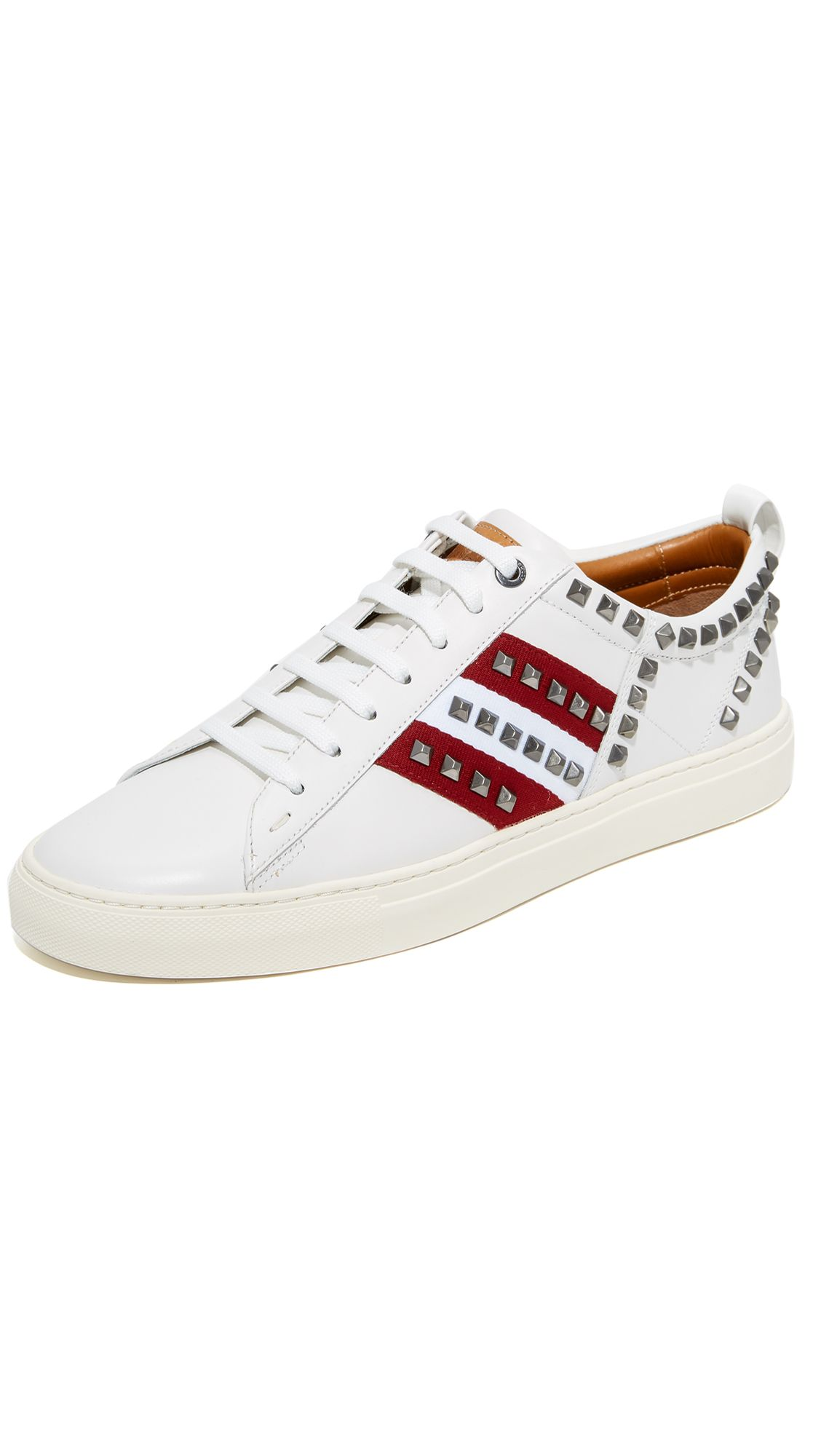 BALLY Helvio Studded Sneakers  #bally #shoes #sneakers