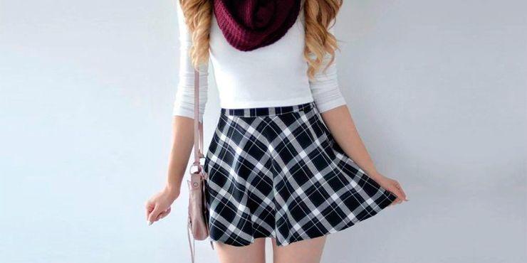 Ideas para añadir tu falda del colegio a tus outfits normales