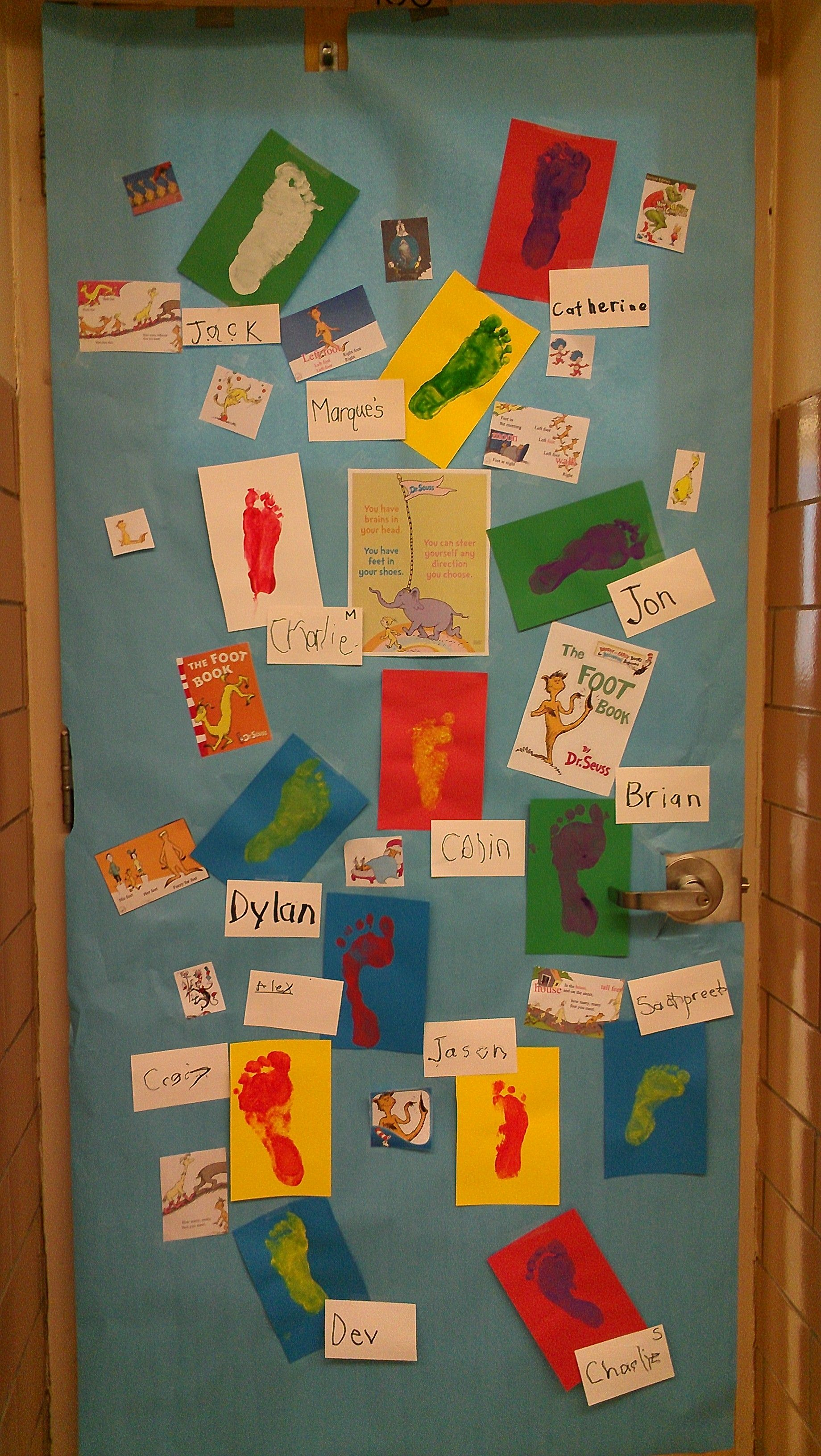 Therapy Room Door Idea From The Foot Book Visual Motor Activities To Write Name Dressing