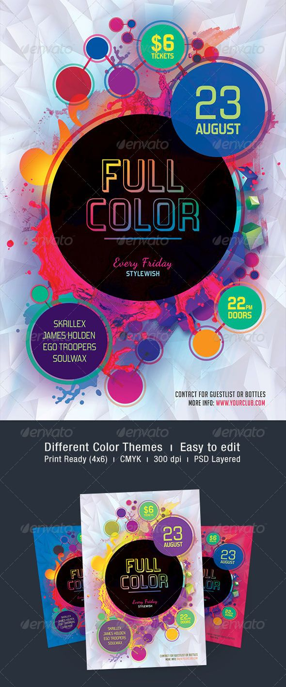 Full Color Flyer GraphicRiver The PSD File Is Very Well Organized In