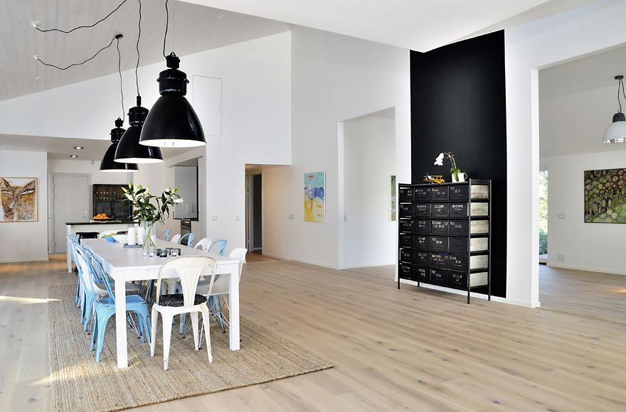 Scandinavian Industrial Design house with clean fresh palettes, natural finishes and simple