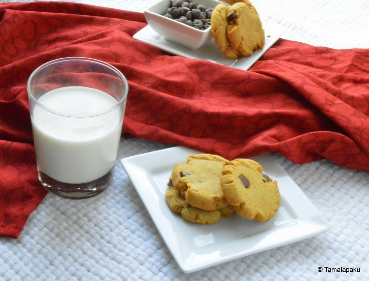 Eggless Chocolate Chip Cookies - 2 ~ Tamalapaku