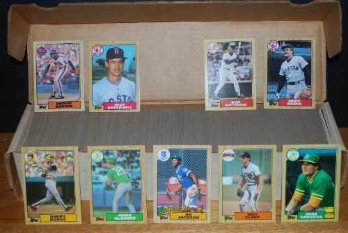 1987 Topps Baseball Complete Set (792 Cards) (Barry Bonds) (Will Clark) (Bo Jackson) (Rookie Cards) by Topps. $19.99. 1987 Topps Complete Set (792 Cards)....(Mint).....Not only is this set loaded with Rookie Cards....Barry Bonds Will Clark, Rafael Palmerio, Barry Larkin, Bo Jackson, Bobby Bonilla, Doug Drabek, Mike Greenwell, Wally Joyner, Dan Plesac (MLB Channel), Mitch Williams (MLB Channel), Ruber Sierra, and many, many more...This set is also loaded with Hall of Famers, ...