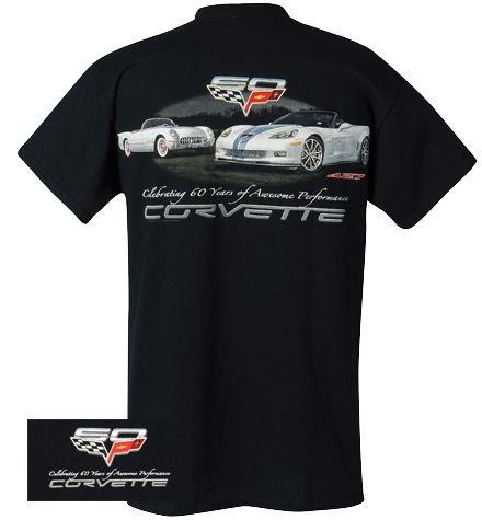 Corvette 60 Years Of Performance T Shirt Cool T Shirts Shirts T Shirt