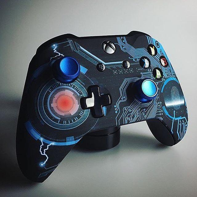 More Super Cool Custom Blue Tech Xb1 Controller Video Game Console Gaming Console Video Game Controller