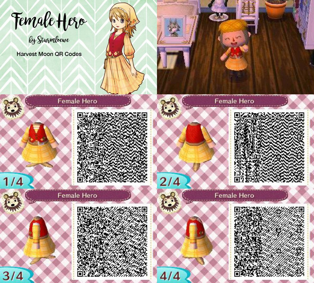 Harvest moon female character hero cute dress for Animal ...