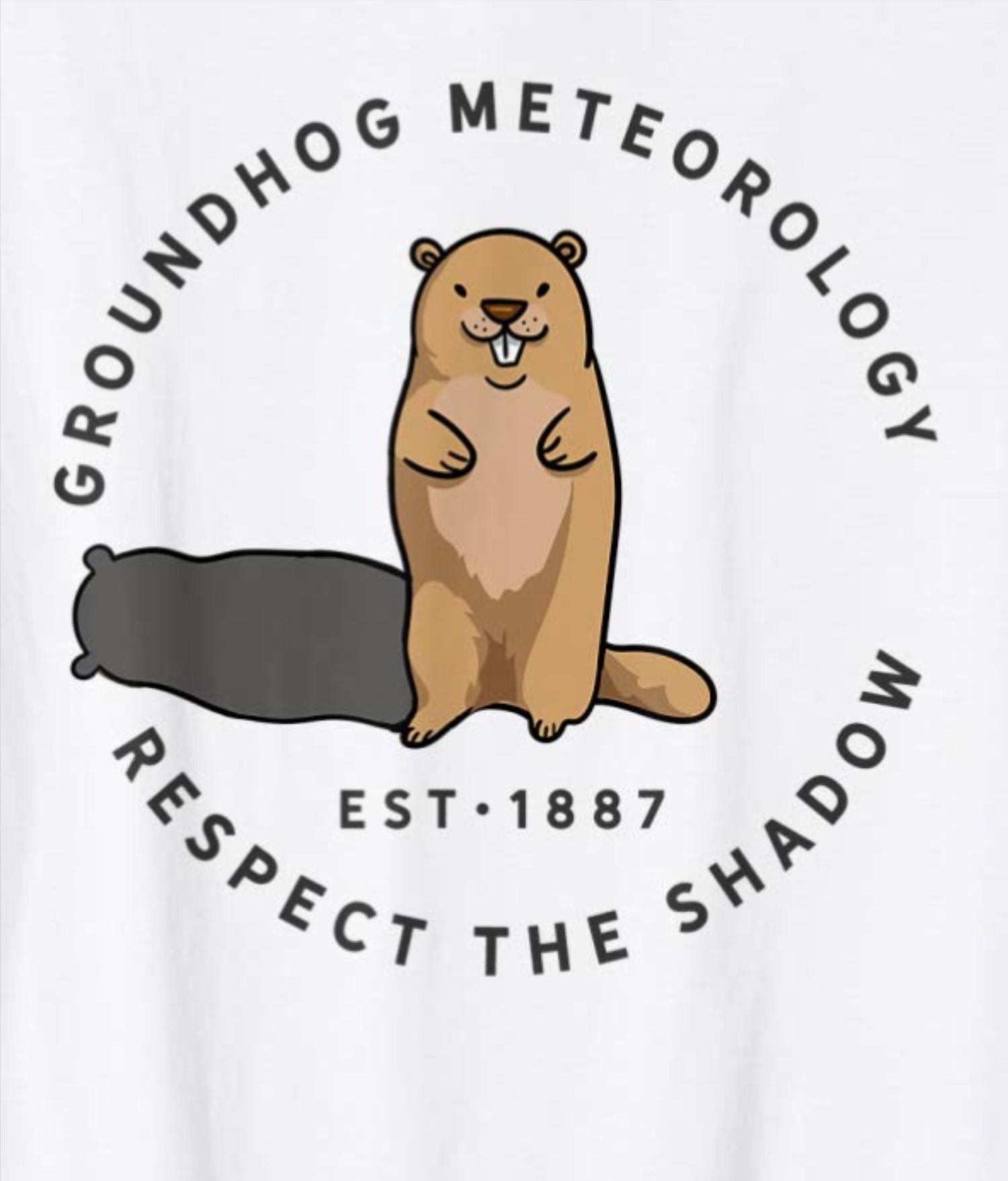 Groundhog Day Funny Quote Respect Shadow Meteorology T