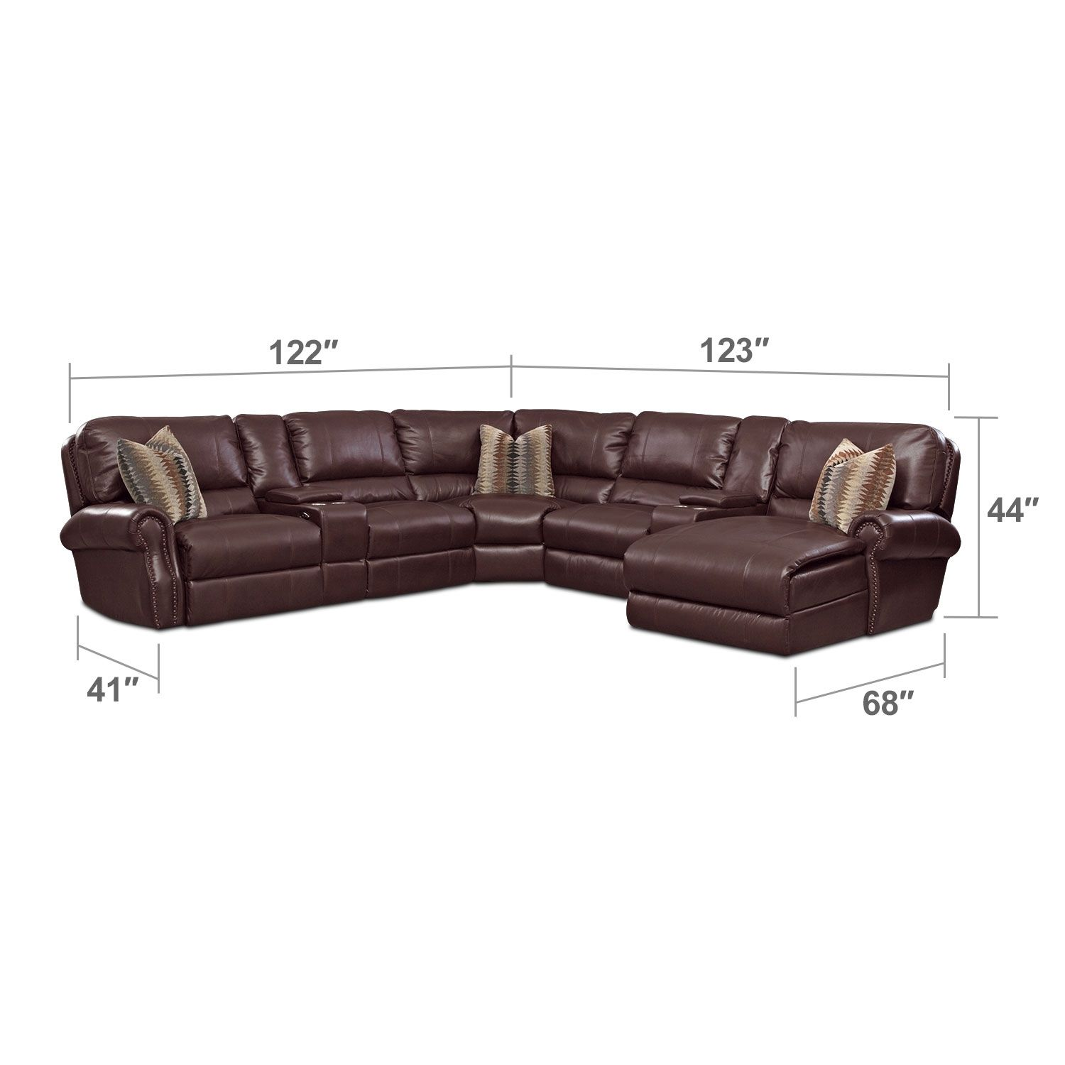 Princeton 5 Pc. Power Reclining Sectional | American Signature Furniture