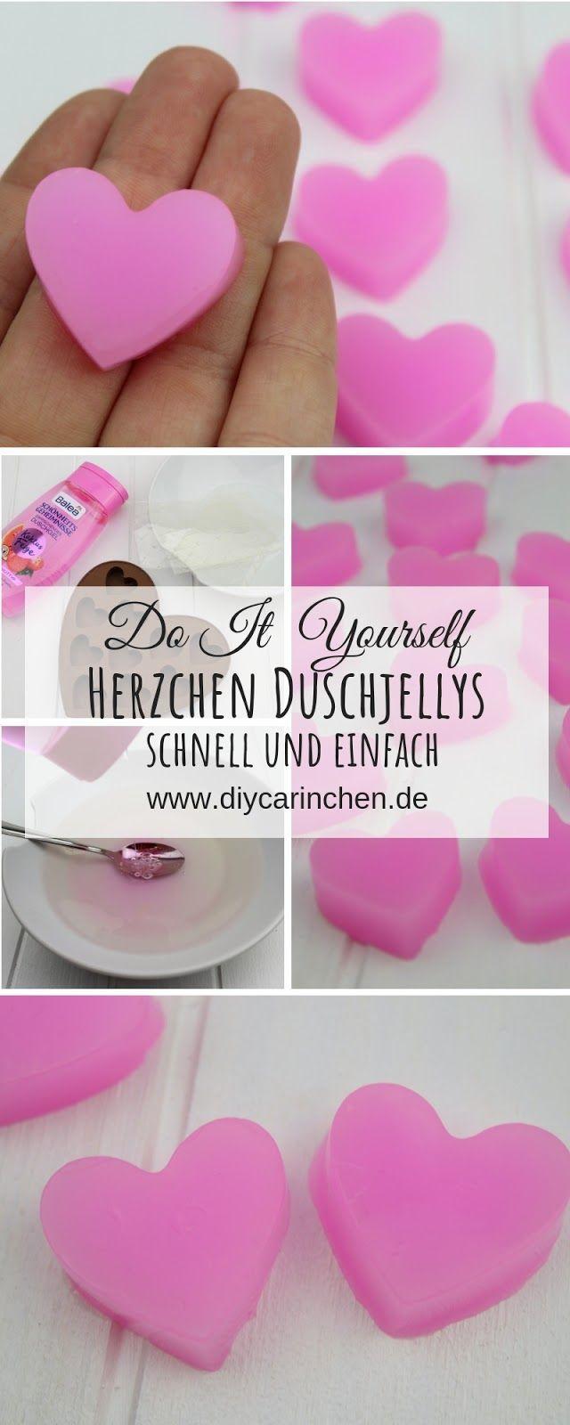 DIY: Duschjellys / Badejellys in Herzform einfach selber machen #christmascraftstosell