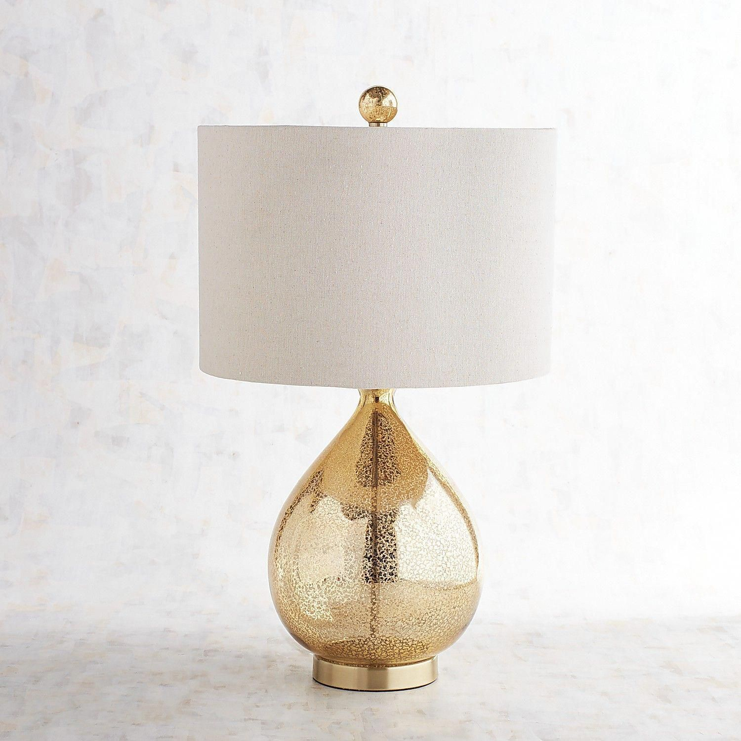 Golden teardrop luxe table lamp pier 1 imports rusticlamp