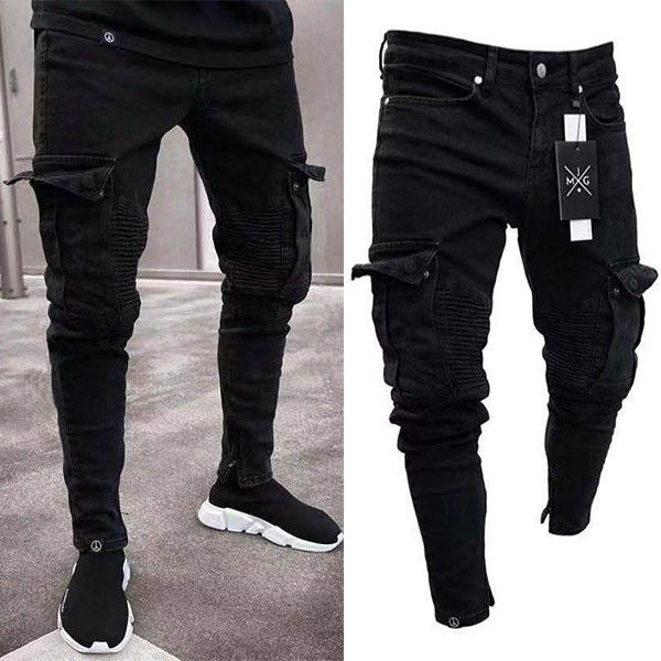 Style Fashioncolor Blackmaterial Denimsize S M L Xl Xxl 3xls Waist 76cm 29 92 Mens Pants Fashion Slim Fit Mens Jeans Skinny Jeans Men