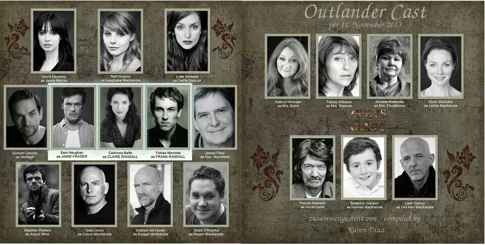 The Outlander cast so far.