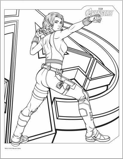 Avengers Black Widow Coloring Page | Inspiration & Fun For Girls ...