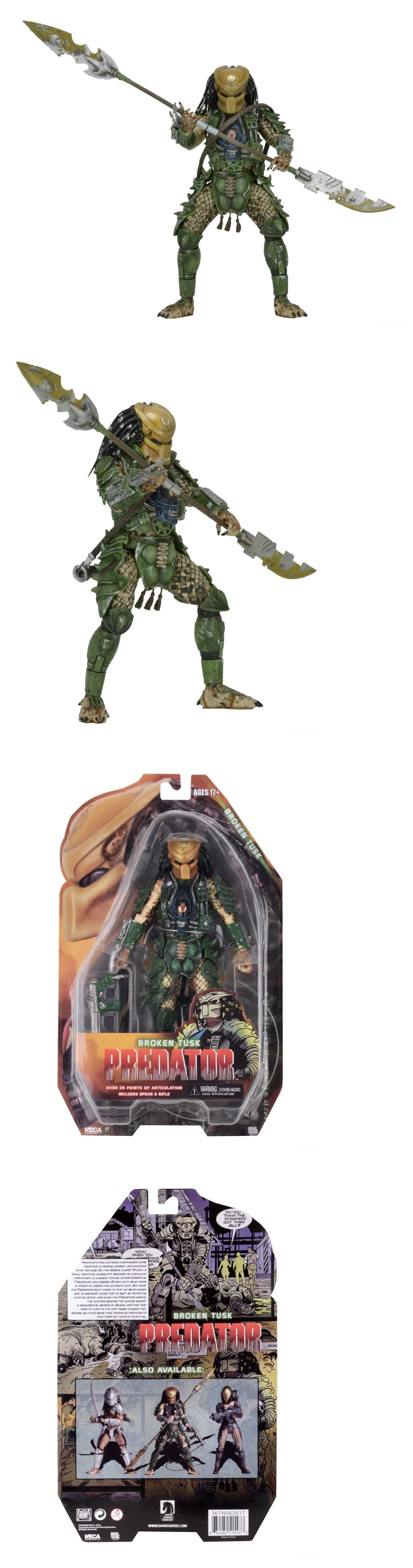 "Broken Tusk Predator 7/"" Scale Action Figure Series 18 Predator NECA"