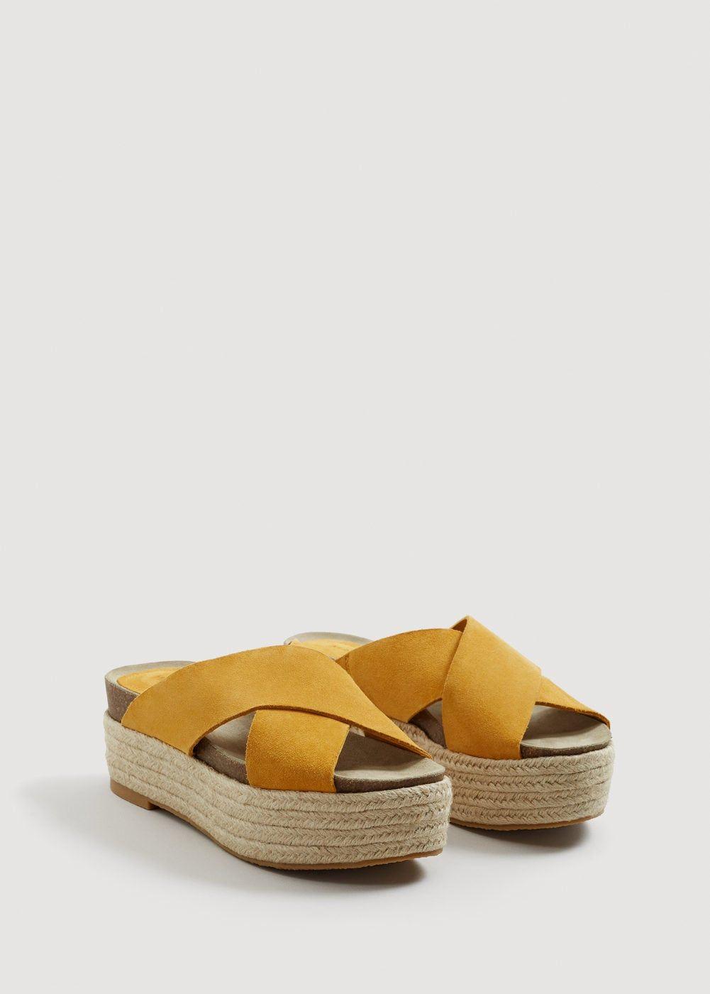 6721e10c1ca Platform leather sandals - Women in 2019 | It's Spring 2019 ...