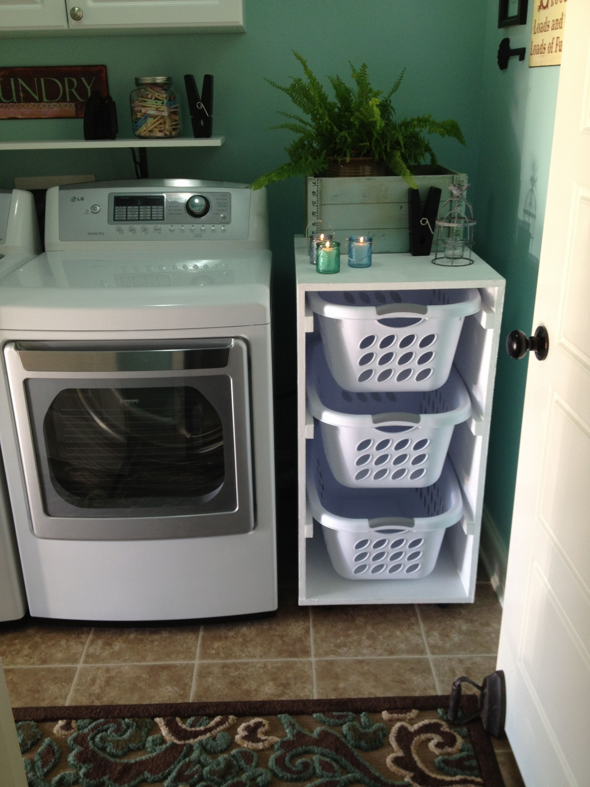 Photo of Beautiful Laundry Room organization Detergent Laundry basket holder Next project But use one …